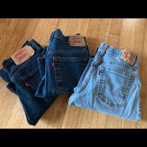 Levi's Lot 3 pair of a variety size 4